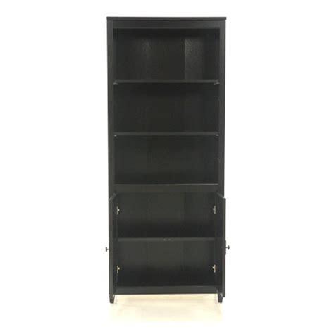 Sauder Black Bookcase by Sauder Edge Water Estate Black Storage Open Bookcase