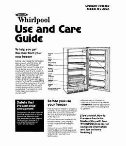 Whirlpool Freezer Eev 202x User Guide