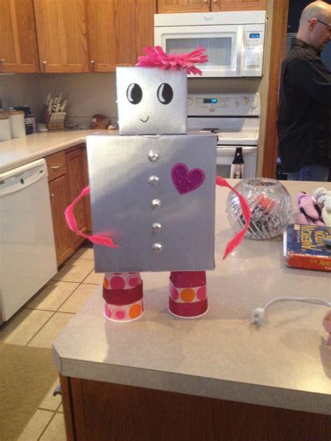 robot valentines box valentines day ideas pinterest