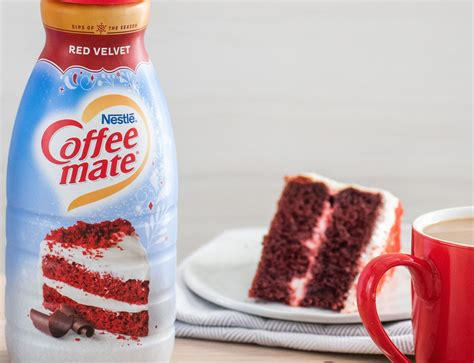 Internet explorer is no longer supported by coffee mate®. Coffee mate adds Red Velvet coffee creamer to its seasonal flavors
