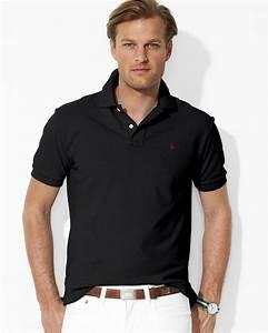 Ralph lauren Polo Custom Fit Short Sleeved Cotton Mesh ...