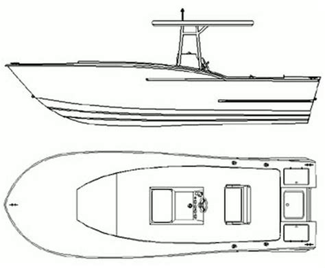 How To Draw A Power Boat by Center Console Fishing Boat Drawing