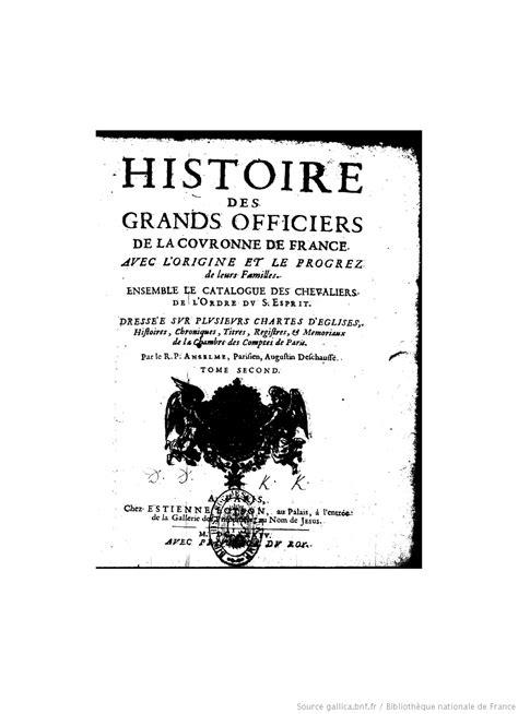 histoire des arts la chambre des officiers histoire de la maison royale de et des grands