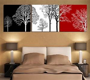 Wall Art De : free shipping black white and red tree modern wall art oil painting home decor picture print on ~ Eleganceandgraceweddings.com Haus und Dekorationen