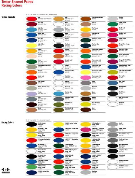 testors paint colors chart testors paint chart by testors corp hobby bunker