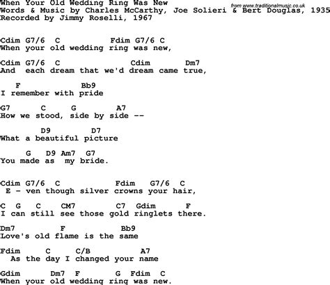song lyrics with guitar chords for when your wedding