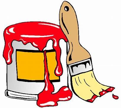 Paint Brush Clip Clipart Painting Painter Onlinelabels