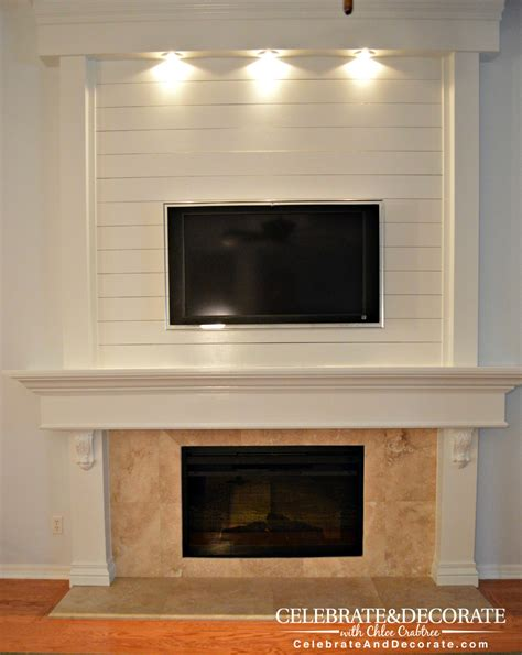 rustic family room furniture shiplap fireplace