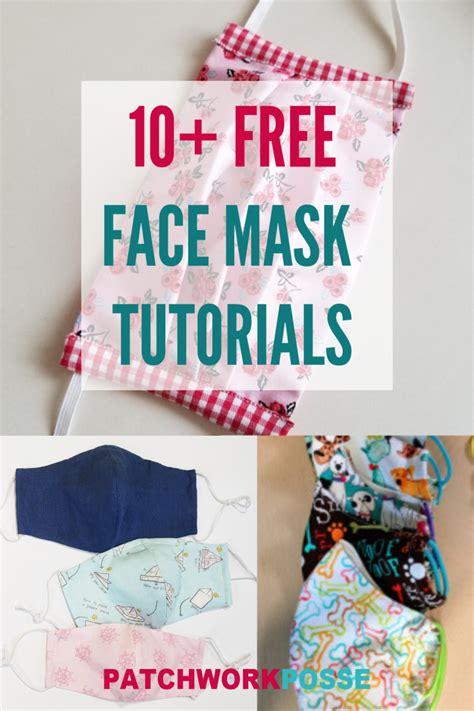 face masks  sew  home patchwork posse