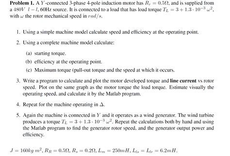 Induction Motor. Y-phase And Delta. Matlab. Please
