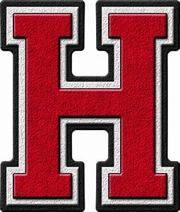 presentation alphabets cardinal varsity letter h With varsity letters
