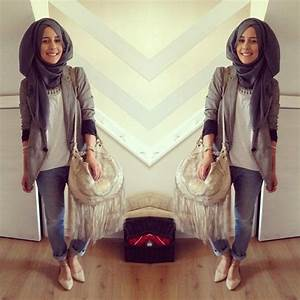 Dina Tokio prettiest hijabi fashionista | modest | Pinterest | Grey Trousers and PS