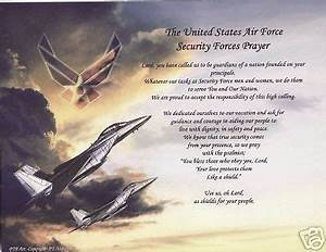 US AIR FORCE SECURITY FORCE POEM PERSONALIZED PRAYER ...
