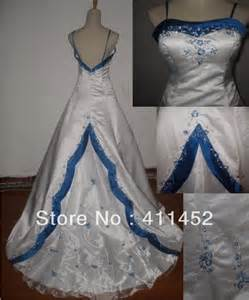royal blue and white wedding dresses no copy white and blue satin wedding dress gown formal gown dress size and color freedom