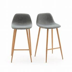 Chaise Bar Reglable : chaises de bar nordie lot de 2 gris la redoute interieurs la redoute ~ Teatrodelosmanantiales.com Idées de Décoration