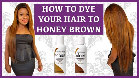 How To Dye Your Hair| Wig| Weave| Honey Brown Using Adore