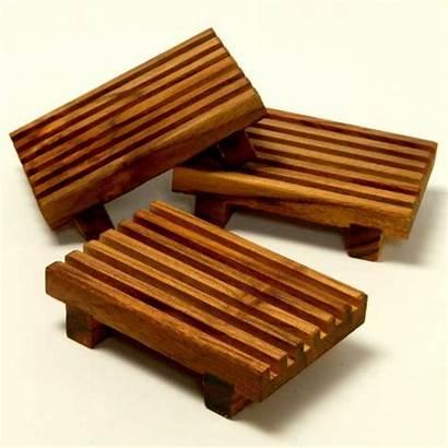 Soap Dish Dishes Unique Wooden Wood Teak