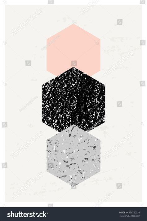 Abstract Minimalist Geometric Shapes by Abstract Composition Textured Geometric Shapes Black Stock