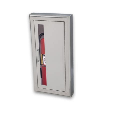 Jl Industries Semi Recessed Extinguisher Cabinet by Jl Academy Aluminum 8127v10 Semi Recessed 5 Lbs
