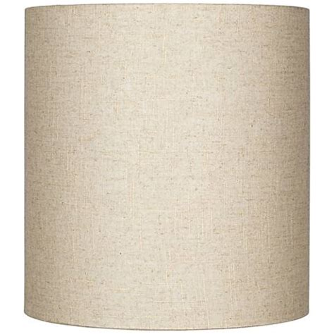 tall drum l shade oatmeal tall linen drum shade 14x14x15 spider 8m867