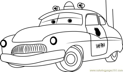 sheriff coloring page  kids  cars printable
