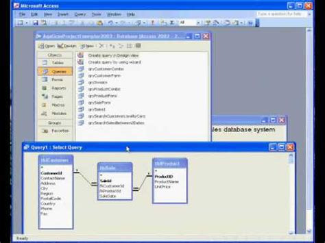 microsoft access  sales invoice  query youtube