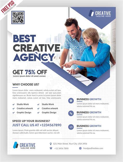 marketing flyer template business marketing flyer free psd template uxfree