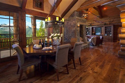 Interior: Simple And Neat Log Cabin Homes Interior Living