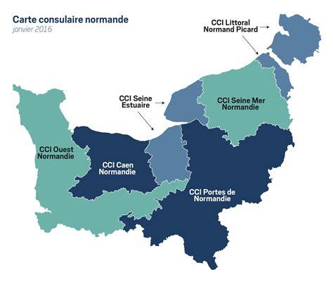 Carte Region Normandie by Le Territoire Cci Normandie