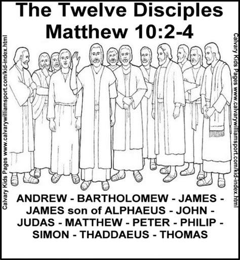 coloring page jesus apostles coloring book