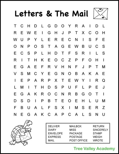 grade mail theme word search    images