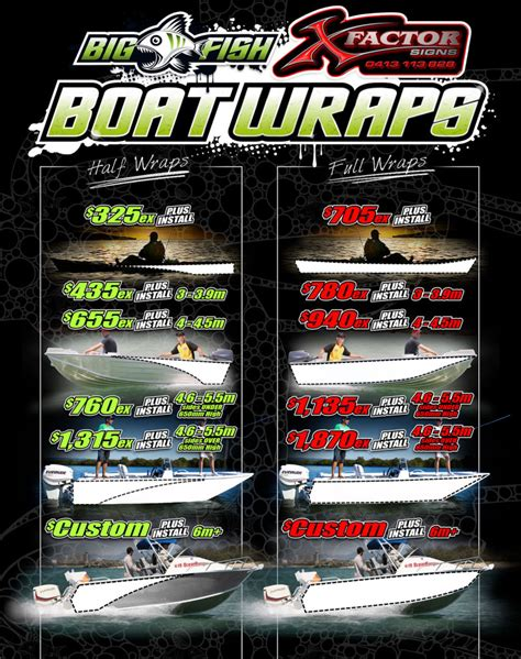 Boat Wraps Prices by Boat Wraps Bigfish Gear