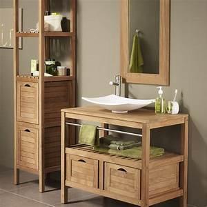 meuble sous vasque l90 x h758 x p50 cm surabaya With porte d entrée pvc avec meuble vasque salle de bain style ancien