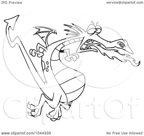 royalty  rf clip art illustration   cartoon black  white outline design   fire