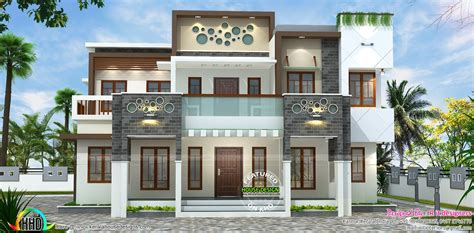 Parapet Wall Design For Home Elevation Double Floor Modern