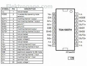 Tda1565 Pinout And Connection Diagram