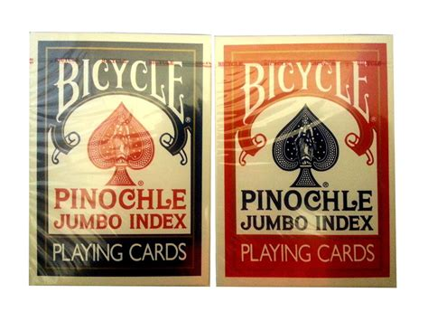 deck two handed pinochle lot 2 bicycle jumbo pinochle large index cards 1