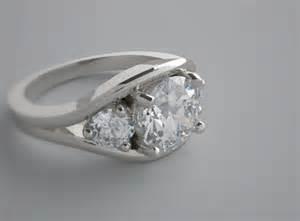engagement ring settings charming three engagement ring setting