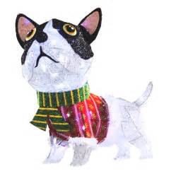 shop holiday living 1 piece 2 ft dog outdoor christmas decoration at lowes com