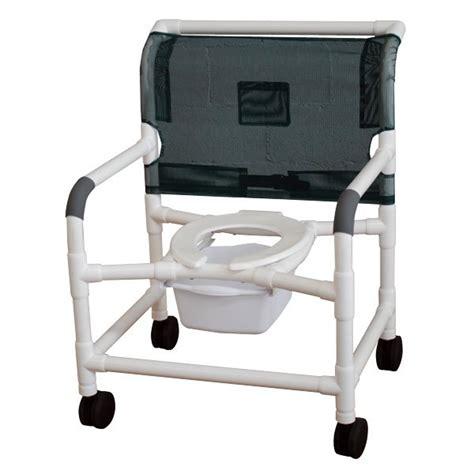 26 quot pvc shower commode chair open front seat 4 quot x 1 1