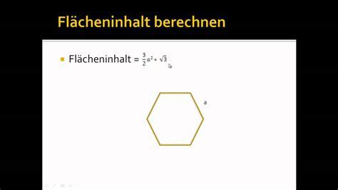 A Berechnen by Fl 228 Cheninhalt Einem Sechseck Berechnen