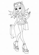 Coloring Monster Rochelle Printable Goyle Swim Swimsuit Colouring Sheets Characters Class Getcolorings Dolls Monsters Blank Disney Cartoon sketch template