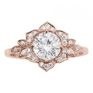 vintage gold engagement rings delicate ring deco flower ring gold engagement ring vintage rings 0 45 ct