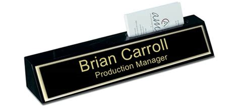desk name plate with card holder black marble desk name plate with card holder black and