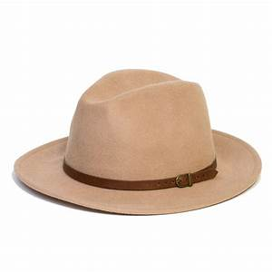 Mens Women Wool Vintage Felt Fedora Wide Brim Hat Cap New ...