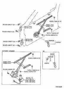 Toyota Corolla Window Regulator  Left  Front   Regulator  Door Window