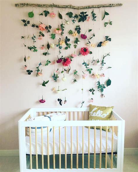 modern nursery floral nursery diy handmade colorful