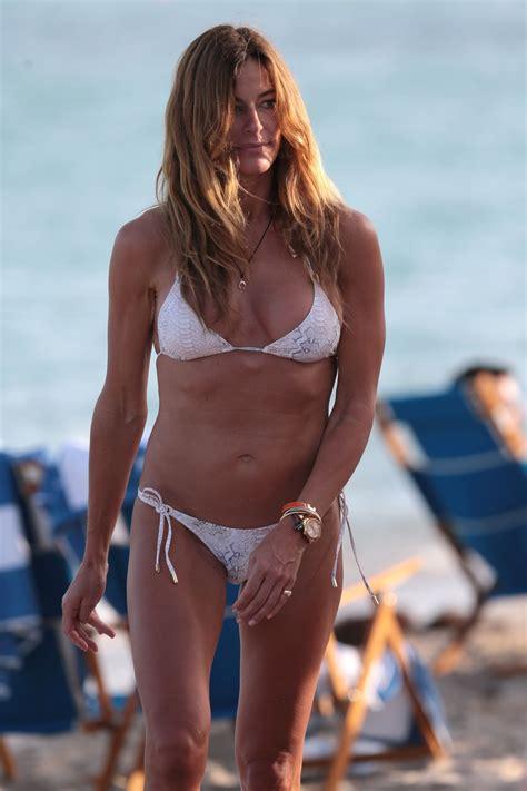 kelly bensimon bikini  beach  miami december