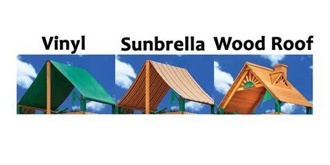 vinyl  sunbrella  wood roof   swing set nj swingsets