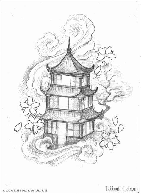 Chinese Building Drawing At Getdrawings Com Free For